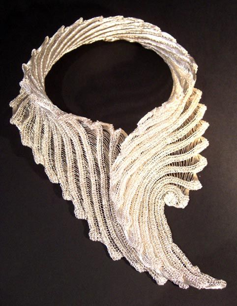 "WOW!! This is knitted wire jewellery from ""Facets of Avalon"" check them out!! So many really amazing and wonderful items."