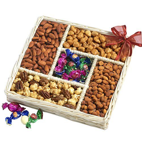 Great Fathers Day Gourmet Sweet and Savory Nut Gift Basket, ,