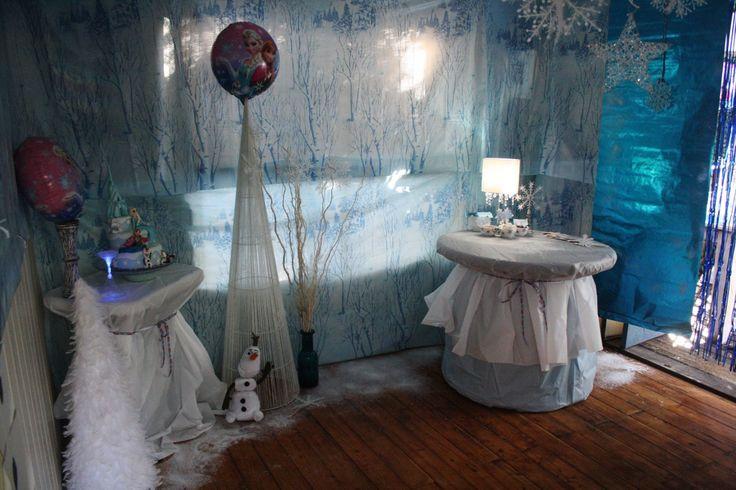 Blue lit party room