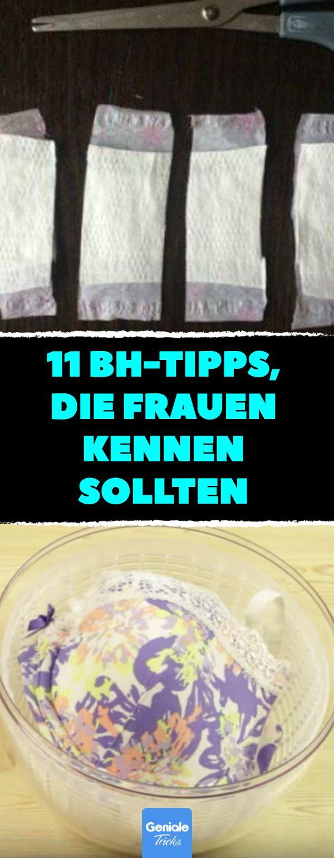 11 BH-Tipps, die Frauen kennen sollten.