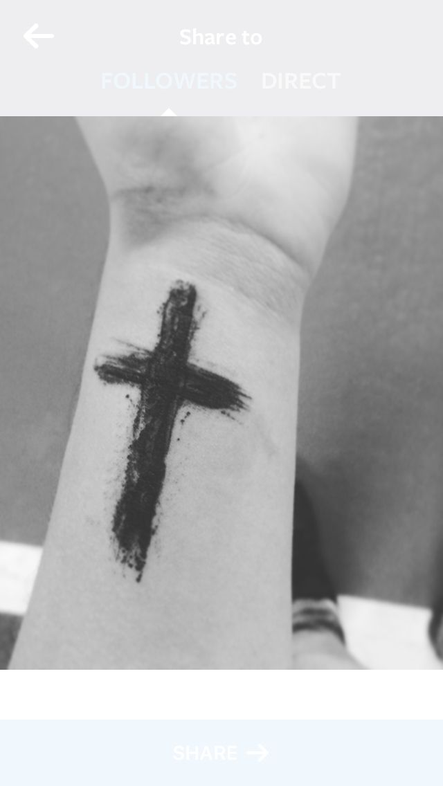 Wrist tattoo cross men black                              …
