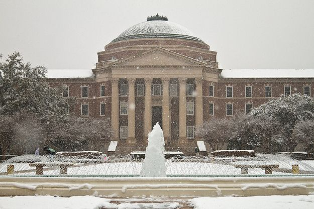 Southern Methodist University   The Most Winter Wonderful College Campuses