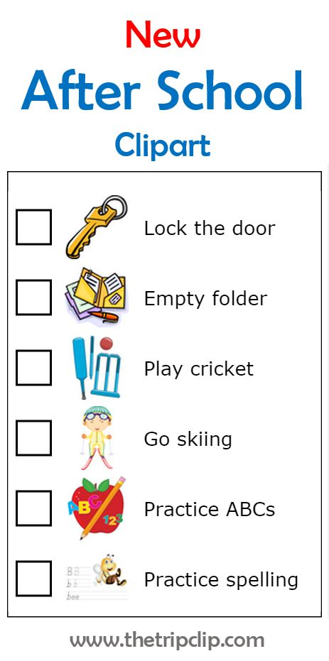 6 new images customers have requested to help them make After School checklists for their kids. See the whole collection at www.thetripclip.com!