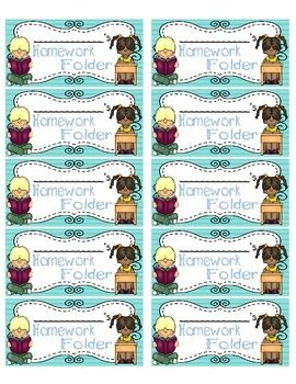 These super cute Homework Folder Labels will help your students stay organized…