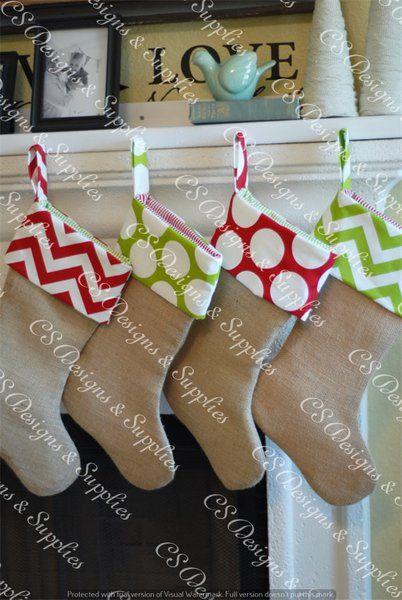 Burlap Christmas Stockings                                                                                                                                                                                 More