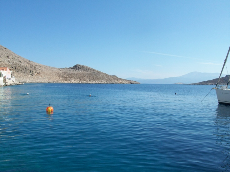 No clouds in the Halki sky in July...?