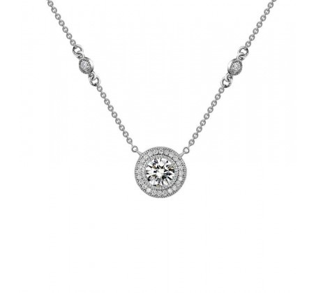 Beautiful Vintage Inspired Halo Necklace #christmas #wishlist #weddingdaydiamonds