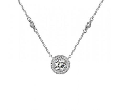 Beautiful Vintage Inspired Halo Necklace #christmas #wishlist #weddingdaydiamonds