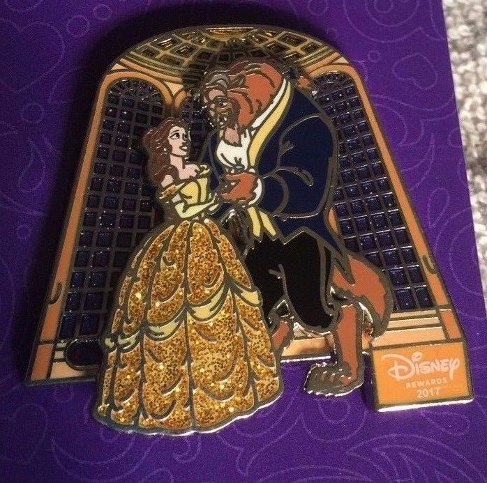 THE PIN IS A DISNEY REWARDS 2017 EXCLUSIVE. THE PIN IS A PIN ON PIN AND BELLE AND BEAST MOVE SIDEWAYS DANCING. ALL PINS COME WITH THE DISNEY RUBBER MICKEY SHAPED BACK. | eBay!