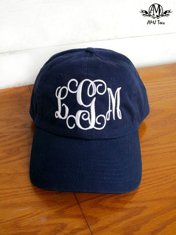 Monogrammed women's baseball cap personalized hat by PricelessKids