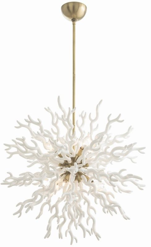 Diallo Large Chandelier - White: Beach Decor, Coastal Home Decor, Nautical Decor, Tropical Island Decor & Beach Cottage Furnishings