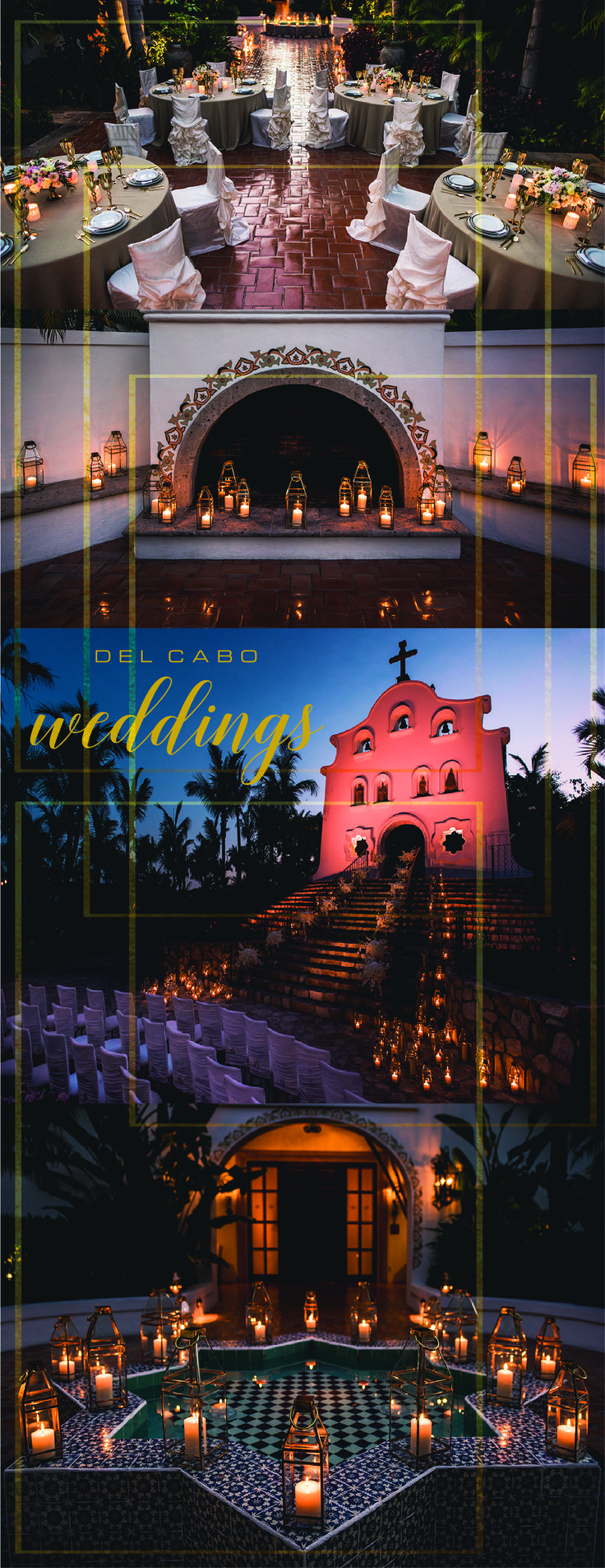 Looking for a wedding full of metals!? Del Cabo Weddings is a wedding destination firm that will make your dream come true! Don't forget to click on the image to visit our website!
