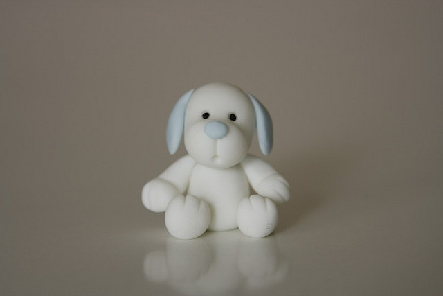 White Puppy by Rouvelee's Creations, via Flickr