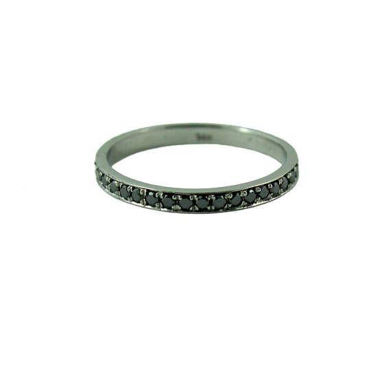 Full eternity ring pave CHOOSE white/black diamonds and CHOOSE