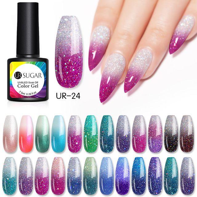 Ur Sugar Thermal Glitter Gel Soak Off Uv Gel Polish Uv Gel Nails Glitter Gel Uv Gel Nail Polish