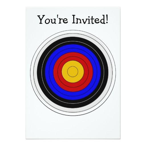 archery target design any occasion invitation ronan
