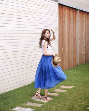 夏にしたい爽やかコーデ♡人気・おすすめ・トレンドのAラインスカートのモテコーデ一覧♡