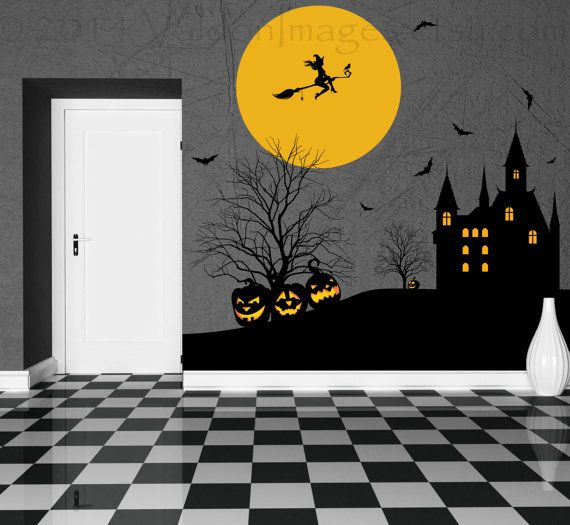 Witches keep vinyl wall decal home decor by ValdonImages on Etsy #halloween