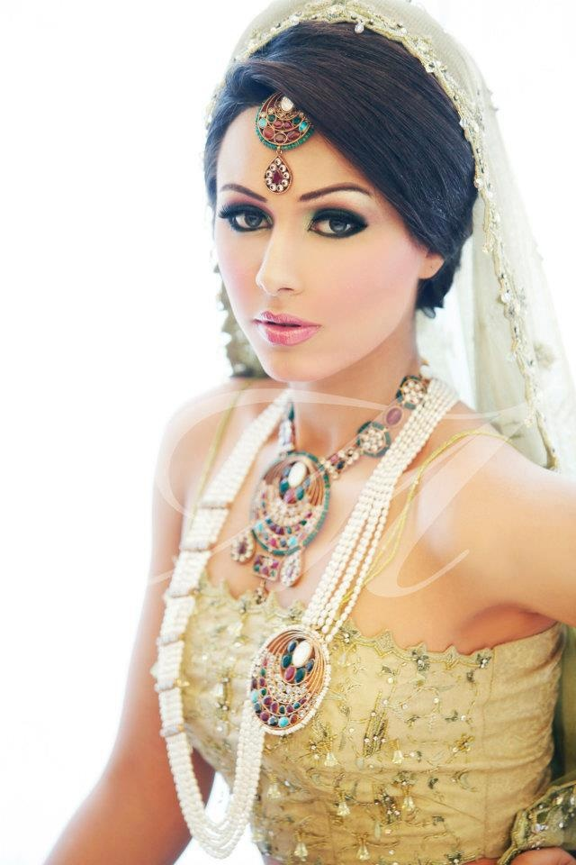 indian wedding hairstyle gallery%0A Image detail for Ayyan Ali and Amina Sheikh bridal makeover and jewelry  www in Indian Weddings