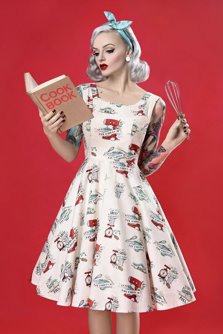 50s dresses in great retro prints; Let's mix things up - Kitchenaid stand mixer print!