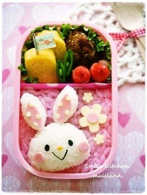 Cute bunny bento