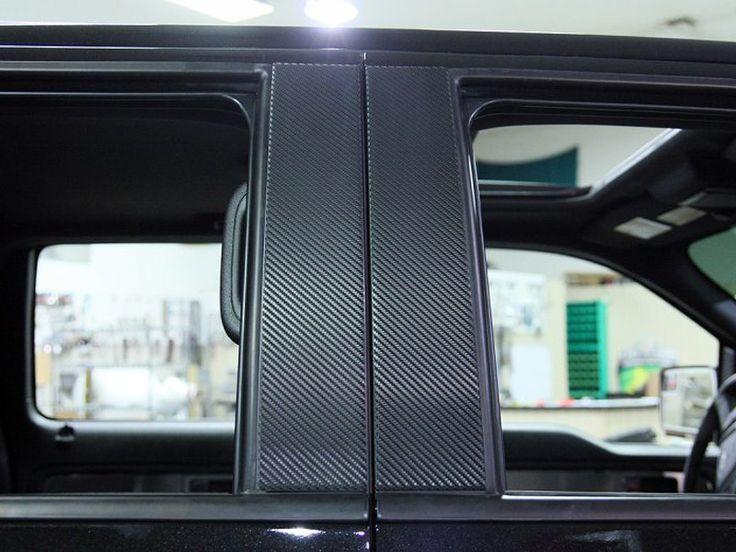 2010-2014 Ford F150/Raptor Pillar Post Carbon Fiber Wrap 4Pc