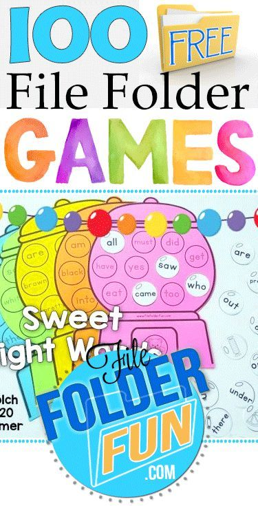 Hundreds of Free File Folder Games at FileFolderFun.com  Games organized by theme or grade level (preschool through third grade):