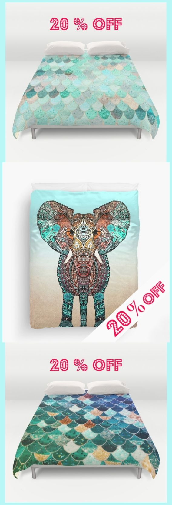 Right in time for a new spring feeling I can offer you 20 % on all my duvet covers in my Society6 shop! Just add: Your Promo Code: 6XW8X7R4H9W4 at the checkout. Free Shipping is included! Many more designs in my shop .... #duvet #duvetcover #sale #promo #gold #silver #mermaidscales #mint #teal #blue #seafoam #pastel #pastels