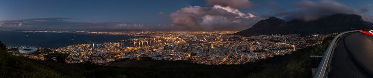 """Cape Town 180 degrees"" has been published on Pascal Parent Photos  More information at http://wp.me/p4WBG2-nf This is the last image (See what I just did? I called it an image, just for the purists!), from my Cape Town trip. This image stretches from Green Point on the left to Table Mountain on the right and the City of Cape Town in the middle, clearly seen is the table cloth running down Table Mountain one of the ""new"" 7 wonders of nature. I had everything pla"