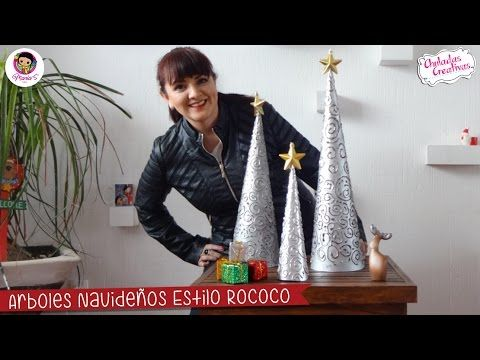 Ideas para decorar navidad con Arbolitos estilo Rococos Síguenos en nuestras redes sociales ★ ✩ www.facebook.com/Chuladascreativas ★ ✩ www.chuladascreativas....