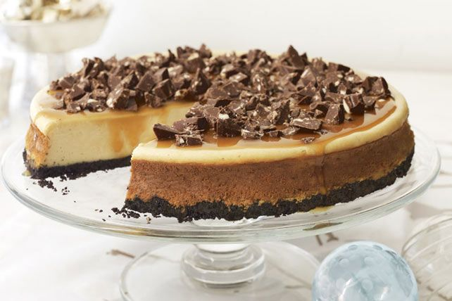 Chocolate-Topped Caramel Cheesecake
