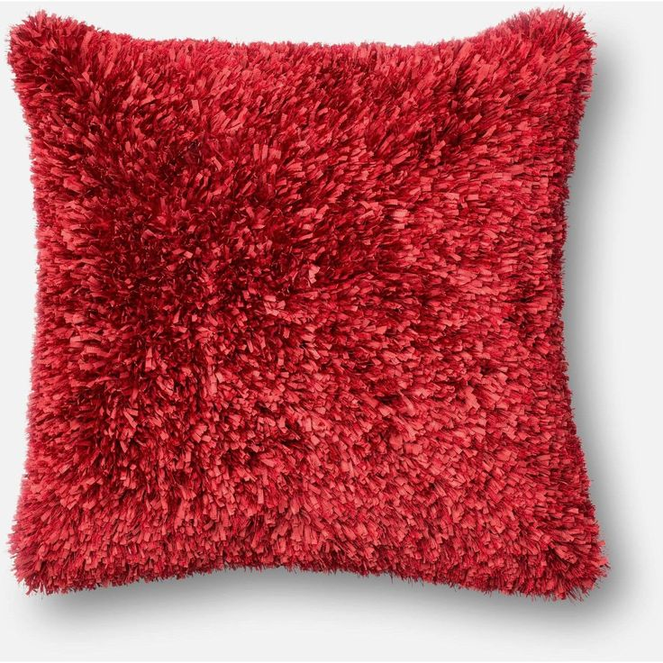 Loloi, Fuzzy Shaggy Throw Pillow, Huge Color Variety
