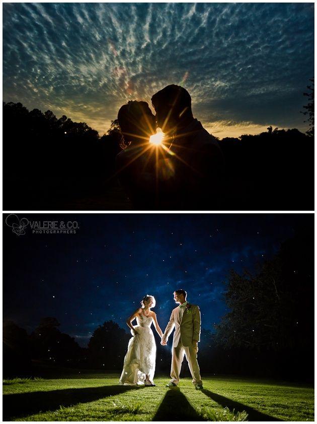 Artistic Charleston Wedding Photography - Night Sky and Sunset Photos - Monks Corner, SC, www.valerieandco.com