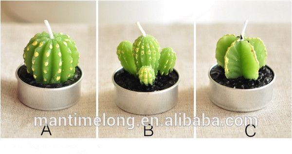 cactus kaars decoratie kaars bruiloft decoratie kaars