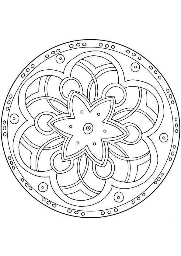485 best coloriages mandala images on pinterest for Tibetan mandala coloring pages