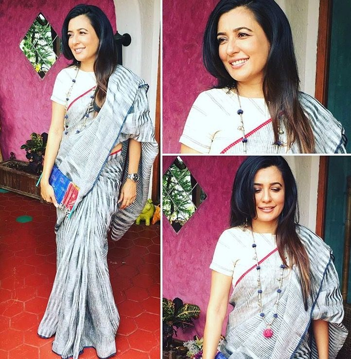 Saree | Mini Mathur | Bollywood | Blogger | Celebrity | Women Fashion | Linen
