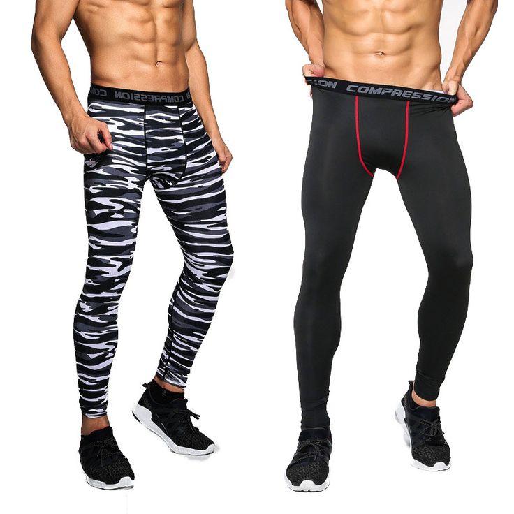 2016 Mannen Compressie Broek Casual Panty Camouflage Broek Bodybuilding Mans Hoge Elasticiteit Joggers Crossfit Skinny Leggings