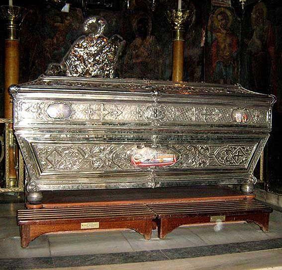 St. Spyridon the patron saint of Corfu.
