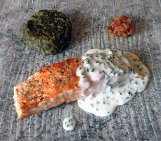 ♨ Recette de Pavé de saumon grillé à la crème de ciboulette | Cuisine Blog