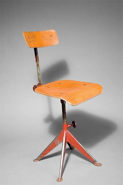 Jean Prouvé; Plywood and Steel Chair, c1938.