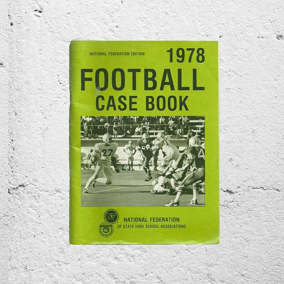 New in The Book Cottage: Football Rules Retro Booklet | 1978 Football Case Book | Football Coach Prop Gift for Him | Set Design for Sports Fans | Lime Green Color by TheBookCottage