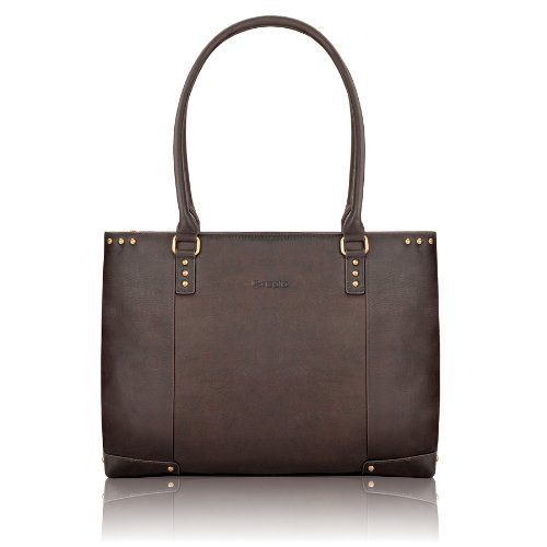 Solo Vintage Collection Women`s Leather Carryall for Laptops up to 15.6 Inches, Dark Brown (VTA801)