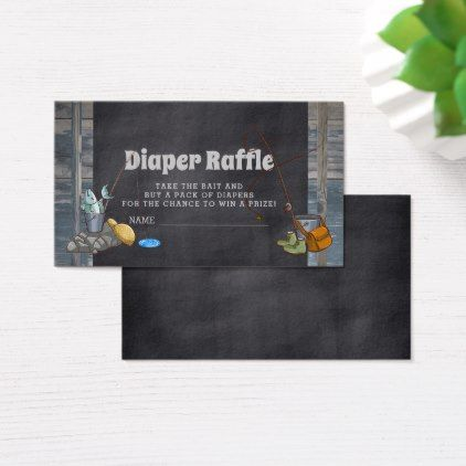 Diaper Raffle Fishing Boy Baby Shower Insert Cards - baby gifts child new born gift idea diy cyo special unique design
