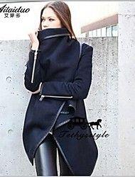 YUNTUO®Women's loose irregular windbreaker cloth coat 22