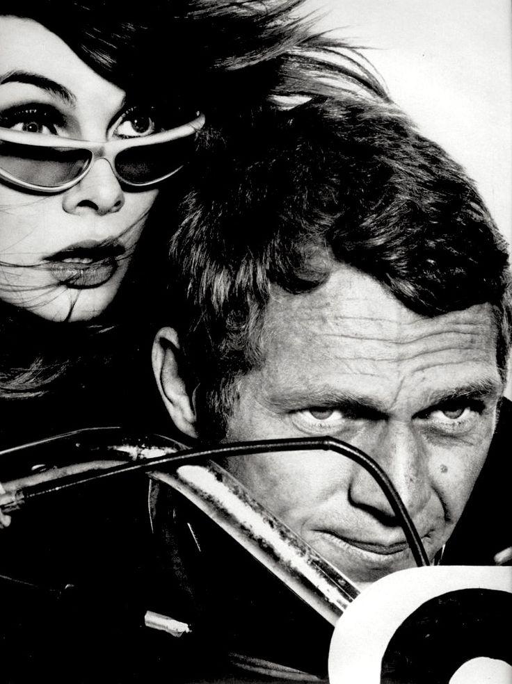 Model Jean Shrimpton & actor Steve McQueen, Harper's Bazaar magazine, February, 1965