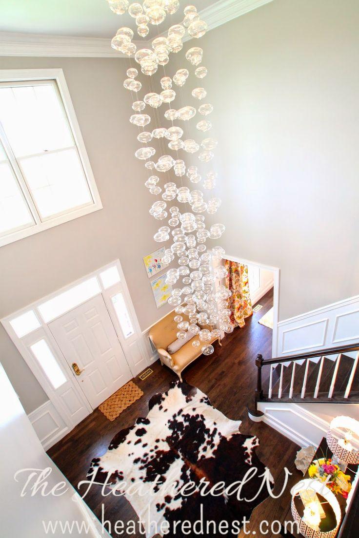 Diy Foyer Chandelier : Diy foyer with glass chandelier aka bubble toil