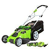 #7: GreenWorks 25302 G-MAX 40V Twin Force 20-Inch Cordless Lawn Mower (1) 4Ah (1) 2Ah Batteries & Charger Included