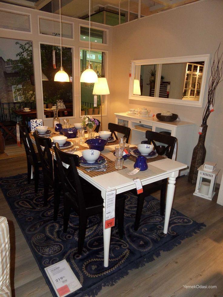 Klasik Çizgili Yemek Odası Takımı Yemek masa,büfe ve sandalyelerinizi klasik çizgilerle buluşturarak,melodi sarkıt lamba ile sıcak sofranızı aydınlatabilirsiniz.Aydınlatmayı,ekru abajur ile dekoratif ışık yayarak güçlendirebilirsiniz.  Ingatorp açılabilen 4-6 kişilik yemek masası,masa tablası ve ilave kanadı dışında masif kayı ... http://www.yemekodasi.com/klasik-cizgili-yemek-odasi-takimi/