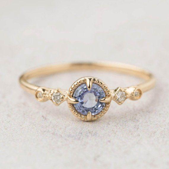 Natural Ceylon Blue Sapphire Engagement Ring Unheated Blue Etsy Sapphire Engagement Ring Blue Blue Sapphire Rings Rose Engagement Ring