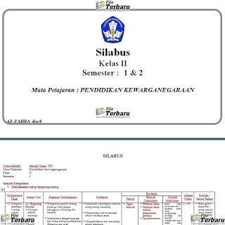 Download Silabus Kurikulum 2013 PKn Kelas 2 SD / MI Terbaru